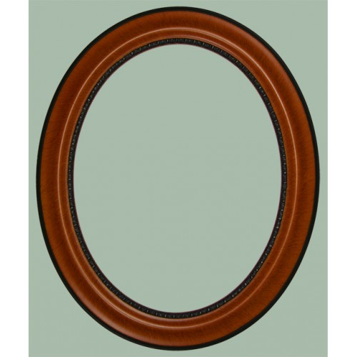 170 series teak oval picture frame