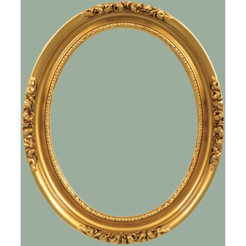 Classics Series 19 Antique Gold Oval Frame